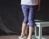 SALE Lavender/Orchid Ruffle Leggings Made to Order Sizes 12, 18, 24 months, 2T, 3T, 4T, 5, 6, 6X, 7, 8, 9, 10
