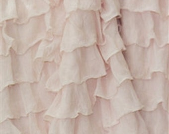 "Blush 2 Inch Ruffle Fabric 14"" Remnant, last piece"