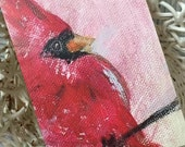 Cardinal Greeting Card/Cardinal Art/Cardinal/Bird Art/Bird Card/Cardinal Note Card/Original Cardinal Art /FREE SHIPPING