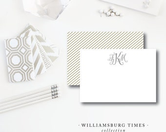 Williamsburg Times | Flat Notes | Printed Stationery with Blank Envelopes | Printed by Darby Cards