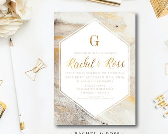 Rachel and Ross Wedding Invitations