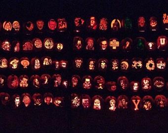 Hand-carve foam pumpkins for Halloween