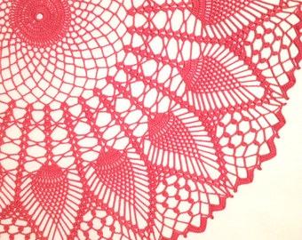 Doily Centerpiece Pineapple Table Linen Placemat  Home Decoration Crochet lace tabletop decor