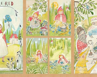 "Cori Dantini - Little Red - The Real Story Panel - Blend Fabrics - (112.109.01.1) - 1 Panel - 24""x44"""
