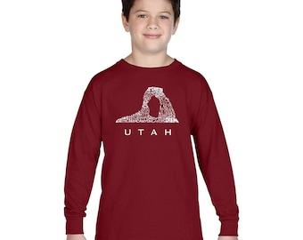 Boy's Long Sleeve T-shirt - UTAH