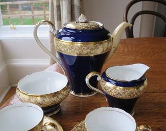 15 Piece Aynsley vintage china demi tasse coffee set
