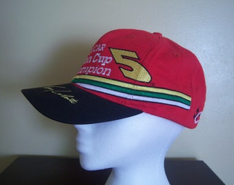 Vintage Terry LaBoute Nascar Winston Cup Champion 1996 Cap, #5, Kellogg's Corn Flakes Racing, Adjustable, Made in USA, Gift Item