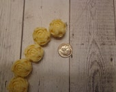Plastic Resin Flower Beads, Cream Color, 20mm, Strung Side to Side Across Bottom Middle (2)