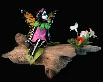 Day of the Dead Fairy, Woodland Monarch