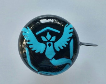 pokemongo team mystic bicycle bell hand painted metal bike art cycling accessories pokemon team valor team instinct unique gamer geek app