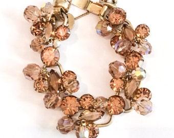 Juliana Bracelet, Topaz, Crystal, Cha Cha Cha, Vintage Jewelry, SUMMER SALE