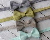 Mens Linen Bow Tie~Mens Self Tie Bow Tie~Mens Pre-Tied~Anniversary Gift~HoBo Ties~Cotton Bow Tie~Wedding~Linen Tie