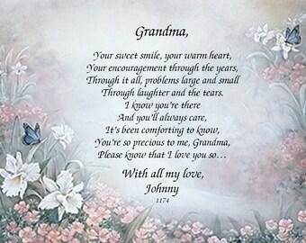 GRANDMA-2 Grandma Beautiful Poetries and Gift Keepsakes and Remembrances