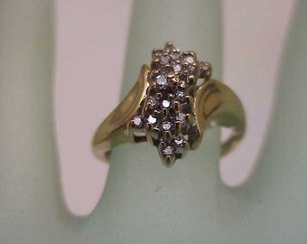 Vintage Estate   14k Yellow Gold .75cttw Diamond ring  ,1960's