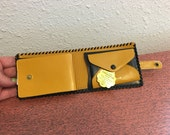 vintage leather wallet, new old stock, mens wallet, mens gift