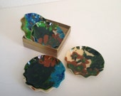 Vintage Fabric Coasters, Vintage Coaster Set, FAB Product Coasters, Vintage Fabric, Preserved Fabric