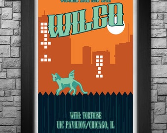 """WILCO inspired limited edition 11X17"""" tour poster"""