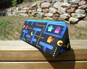 Pencil Case, Pac-Man, Video Game Bag, Pencil Pouch, One of a Kind