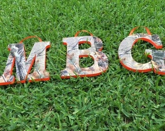 Realtree Camo Wooden Letters Custom