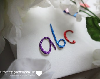 Die Cut Glitter Card Numbers & Letters! Craft Embellishments!