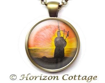 Piper Pendant, Piper Necklace, Altered Art Pendant