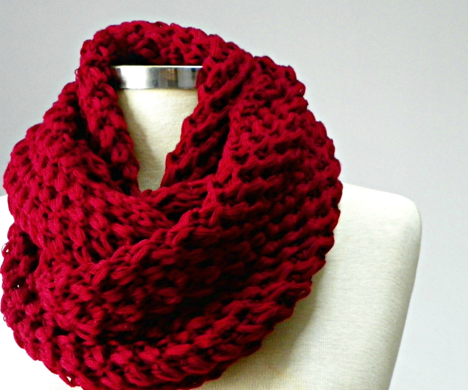 sale knit scarf knitted infinity scarf chunky cowl scarf