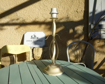Stylish Toleware Lamp Base table lamp desk lamp French Shabby Chic Vintage Cream and Gold