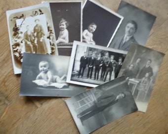 Antique Photo Collection of Family and Baby Photographs from The early 1900's to Mid 1930's French