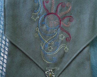 Celestial Embroidered Belt Pouch