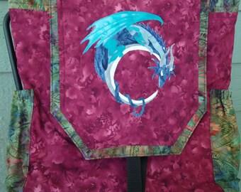 Dragon Backpack - Fantasy Art Dragon - Crecent Moon Dragon