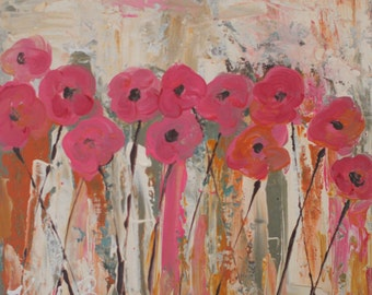 Wild Pink Original Painting by Kelly Berkey