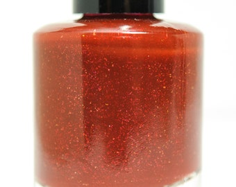 I'm A Homicidal Maniac - custom Addams Family inspired Halloween matte red shimmer micro-flakies nail polish