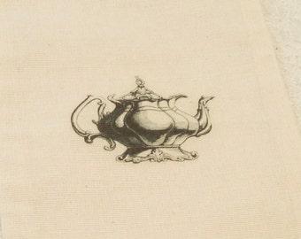 """Teapot Favors-Teapot Tea Party Favors Muslin Treat bags-Wonderland party wedding favors-size 5x7"""" -set of 8"""