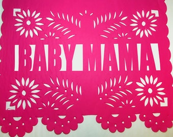 Custom Papel Picado Banner - Baby Shower - Bridal Shower - Fiesta