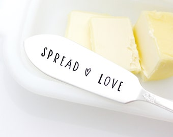 Engraved Spreader, Spread Love. Unique Hostess Gift. Cheese Spreader.