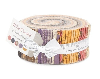 Wild Orchid Jelly Roll by Blackbird Designs for Moda Quilt Fabrics