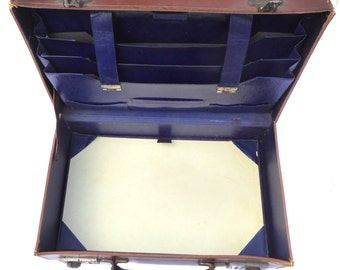 1940s Documents Case Vintage Writing Case Vintage Briefcase Small Hand Case Made in England Vintage Luggage Vintage Traveling