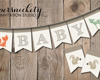 Woodland Creatures Baby Shower Banner