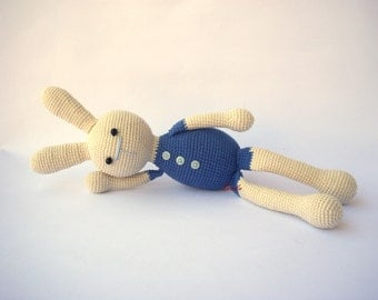 PDF Crocheted Bunny Felix,  Crochet Toy,  DIY tutorial