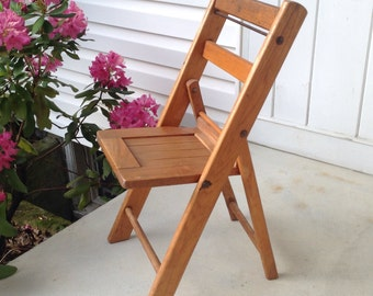 Childs Folding Wooden Chair Card Table Chair Banquet Chair