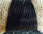 Black leather twist wrap