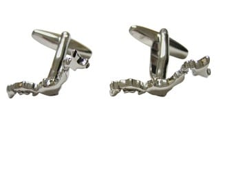 Japan Map Shape Cufflinks