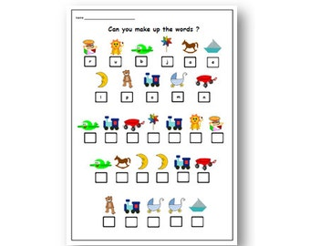 INSTANT DOWNLOAD -  FRENCH Printable Worksheet for Primary - Learn Basic French Words with Vocabulary Worksheet,Word Decoding,Word Code