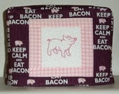 Bacon Toaster Cover, Two Slice Toaster Cover, Toaster Cover with Pig, Brown and Pink Toaster Cover