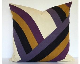 Pair 50cm x 50cm Of Vintage 1960s Lariat Fabric Cushion Covers Hamdi El Attar For Heals