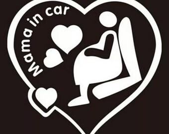 Mama In Car - Vinyl sticker