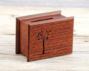 Wooden music box - Life tree - mahogany custom music own individual unique wooden box with optional music