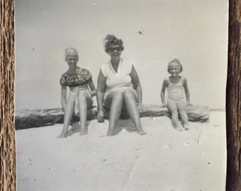 Original Vintage Photograph Feet in the Sand