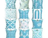 BEACH DECOR, NAUTICAL Pillows, Pillow Cover, Decorative Pillow, Throw Pillow, Pillows, Anchors, Stripes, Starfish, All Sizes, Euro, Cushion