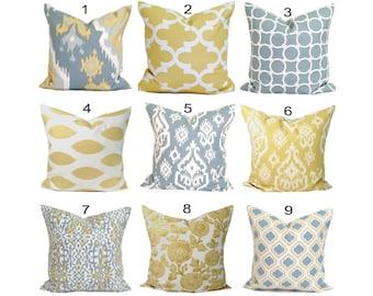 GRAY PILLOWS, Pillow Covers.Pillows, Pillows, Gray Pillow. Accent Pillow, Slate Gray Pillow, Pillow Cover, Decorative Pillow, Yellow Pillow